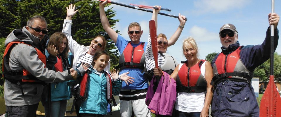 Family fun with the Bude Canoe Experience
