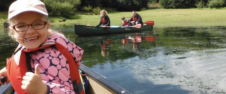Having fun with the Bude Canoe Experience